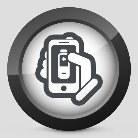 Battery level smartphone Vector