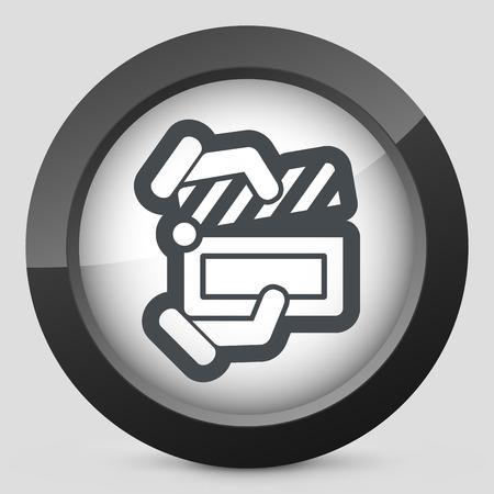Clapboard concept icon Stock Vector - 28218244