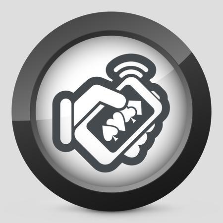 Online casino icon Illustration