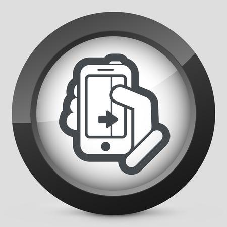 touch sensitive: Touchscreen sliding icon