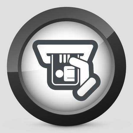 Id card insert icon