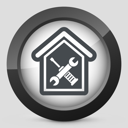 bricolage: Home repair icon Illustration