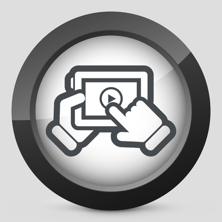 Multimedia player icon Vector