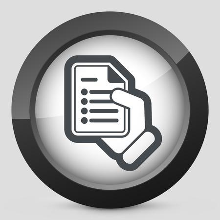 Document concept Vector
