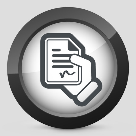 Document signed icon Stock Vector - 28218691
