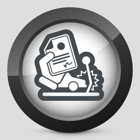 reimbursement: Car crash insurance Illustration