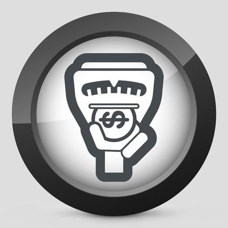 parking garage: Parking meter