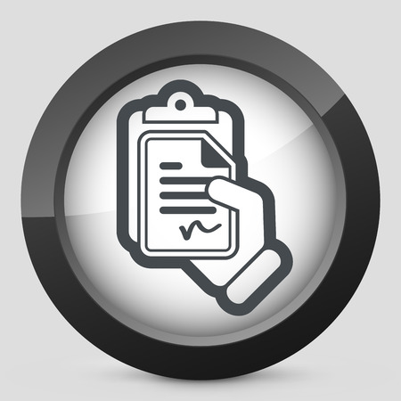 accordance: Contract icon Illustration