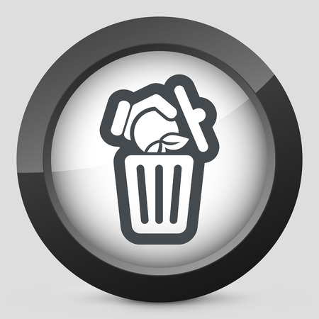 Food trash icon Vector