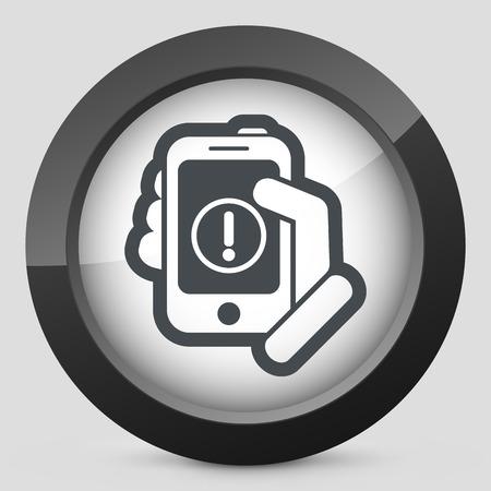 Alert mobile device Vector
