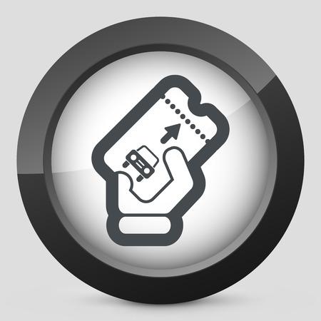 Park card icon Vector