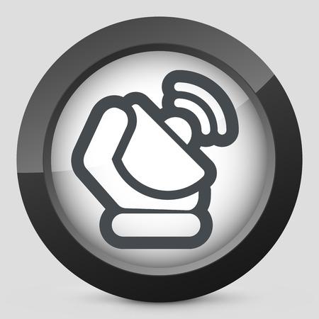 repeater: Antenna icon Illustration