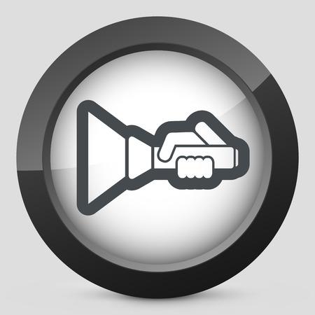 Flashlight icon Illustration