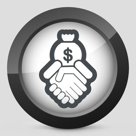 debtor: Financial agreement icon