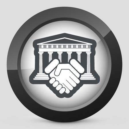 Courthouse agreement icon Vector