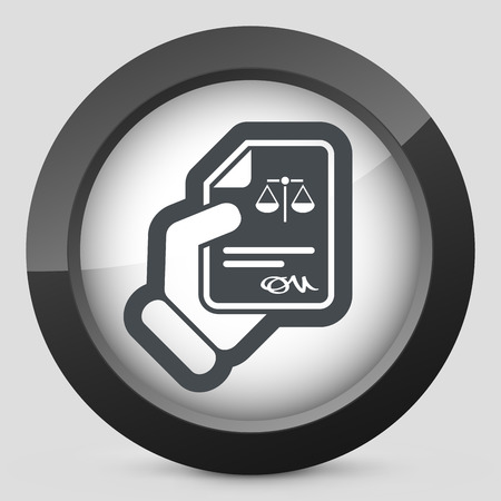 condemnation: Legal document icon
