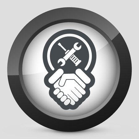 employed: Worker handshake icon