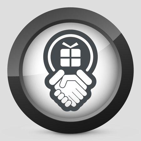 Handshake for gift icon Vector