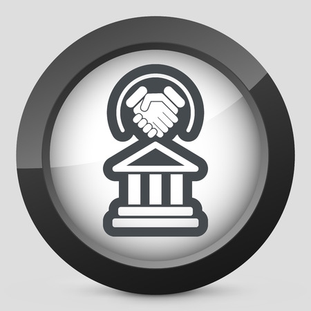 Legal agreement icon Vector