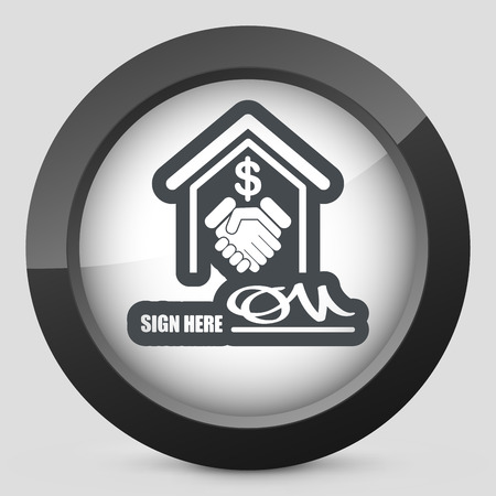 Banking agreement icon Vector