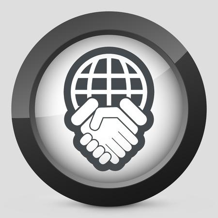 folkloristic: Global agreement icon Illustration