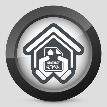 bank manager: Icono de la casa contrato