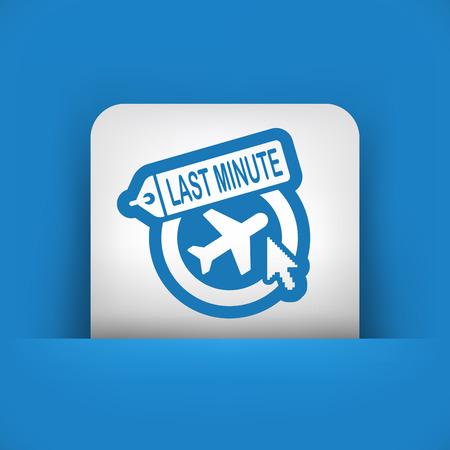 Last minute link icon Vector