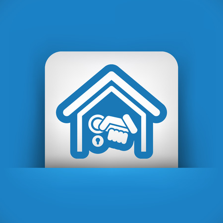 Home door handle Vector