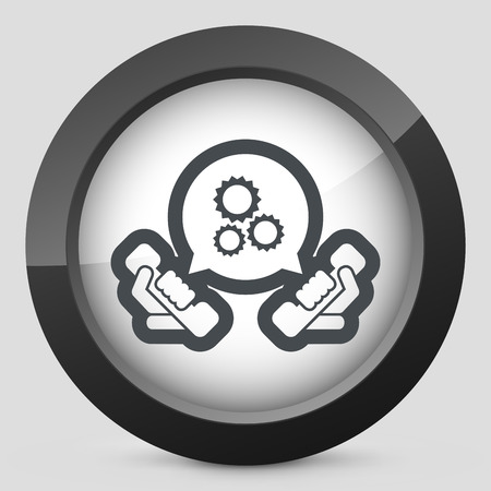 data centers: Technical assistance icon