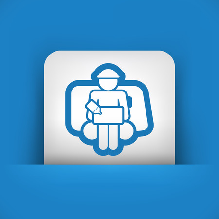 consignee: Bellboy concept icon Illustration