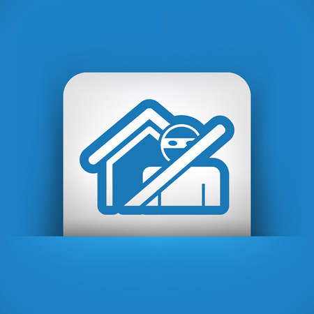 doorlock: Thief security icon