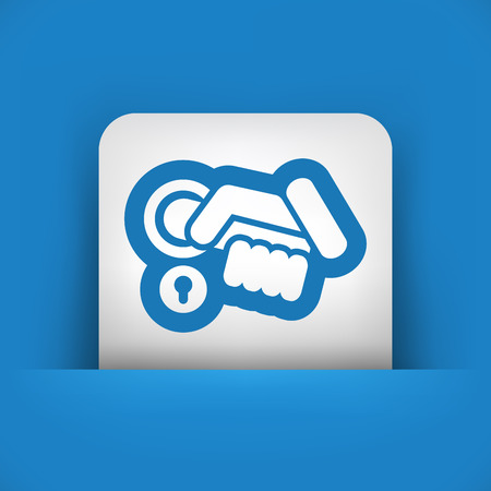 Open handle icon Vector
