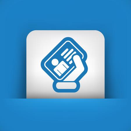 Identity card icon