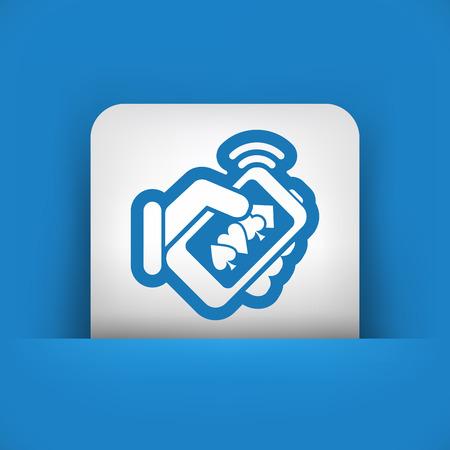 hold em: Online casino icon Illustration