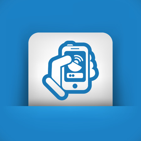 Antenna smartphone icon Vector