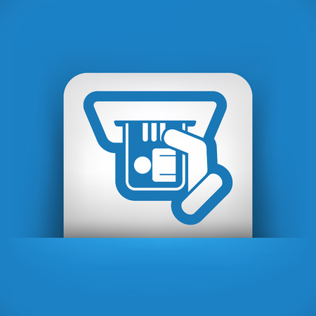 timecard: Id card insert icon