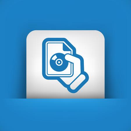 Download button icon Vector