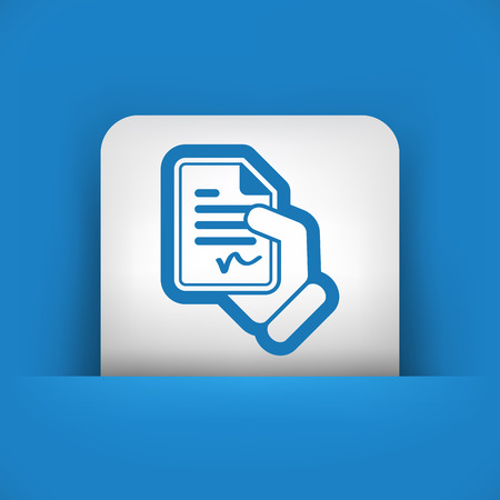 Document signed icon Stock Vector - 28321654