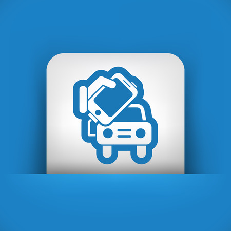 speakerphone: Connection of smartphone to car  Illustration
