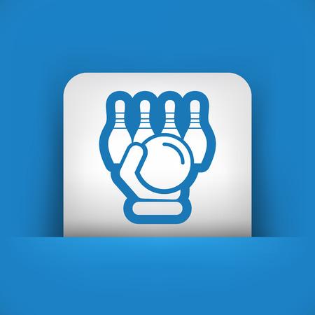 overthrow: Bowling icon Illustration