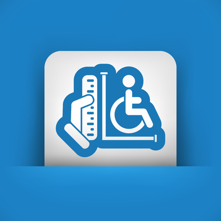 Disabled access area Vector