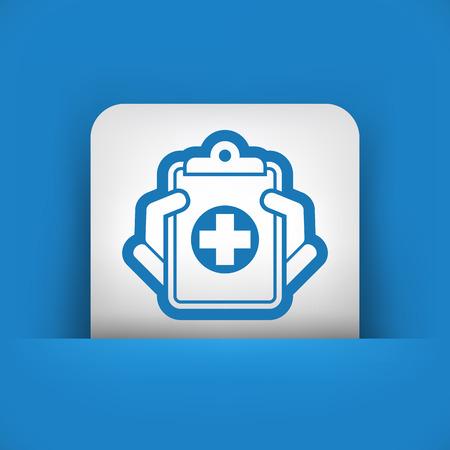 Los registros médicos icono