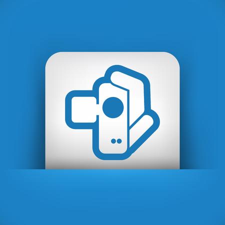 Videocamera icon Stock Vector - 28322634