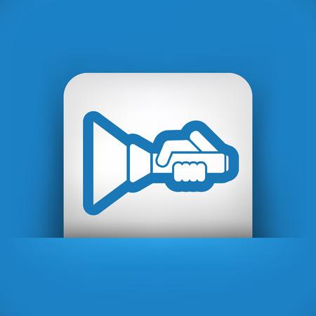 taschenlampe: Flashlight-Symbol Illustration
