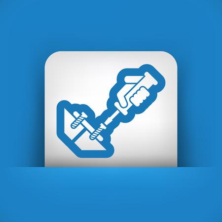 unscrew: Screwdriver icon Illustration