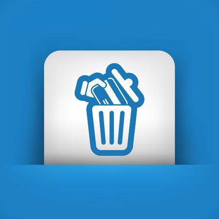 trashing: Credit card trashing Illustration