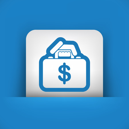 extortion: Money handbag Illustration