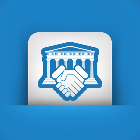 courthouse: Courthouse agreement icon
