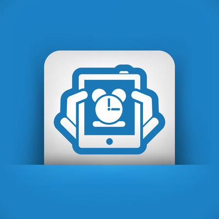 Tablet clock icon Vector