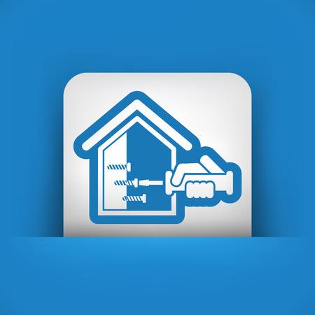 screwed: Home repair icon Illustration